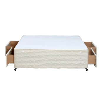 Premier double 4ft6 cream divan base with 4 drawers for Double divan base with drawers