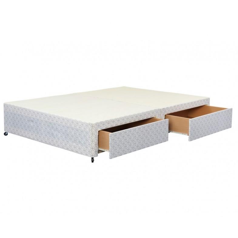 Basic Double 4ft6 Divan Base With 2 Drawers