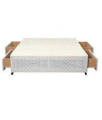Basic Double 4ft6 Divan Base With 4 Drawers