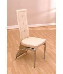Faux Leather / PVC Chair Ivory