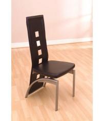 Faux Leather / PVC Chair Black