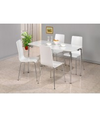 Dove Rectangle Table + 4 Chairs