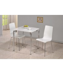 Dove Square Table + 2 Chairs