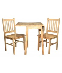 Drop Leaf Table +2 Chairs