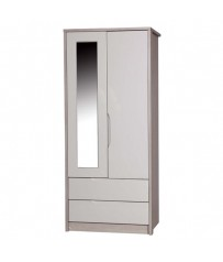 2 Drawer Wardrobe Combi Mirror