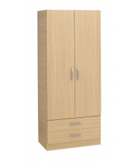 2 Door Wardrobe With Drawers