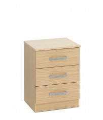 Budget Bedside 3 Drawer