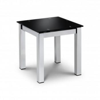 Black Glass Lamp Table
