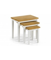 Nest of Tables - Two Tone White/Oak Finish